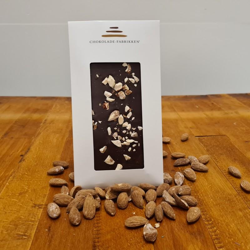 Mørk chokolade med saltede mandler