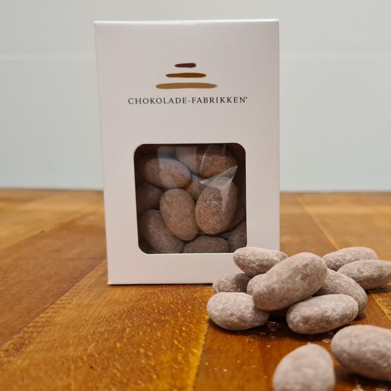 Dragerede saltmandler med Caramelia 36% chokolade.