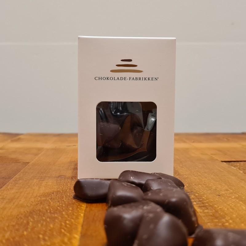 Syltet ingefær overtrukket i mørk chokolade
