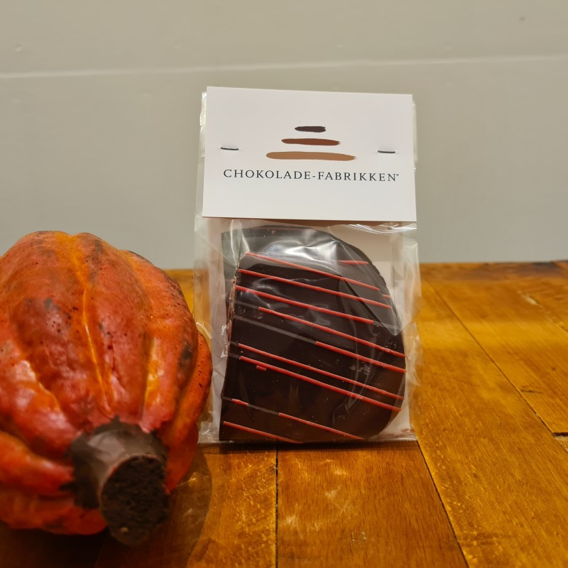 Jordbærbrud overtrukket i mørk chokolade