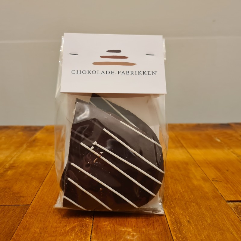 Pebermyntebrud overtrukket i mørk chokolade