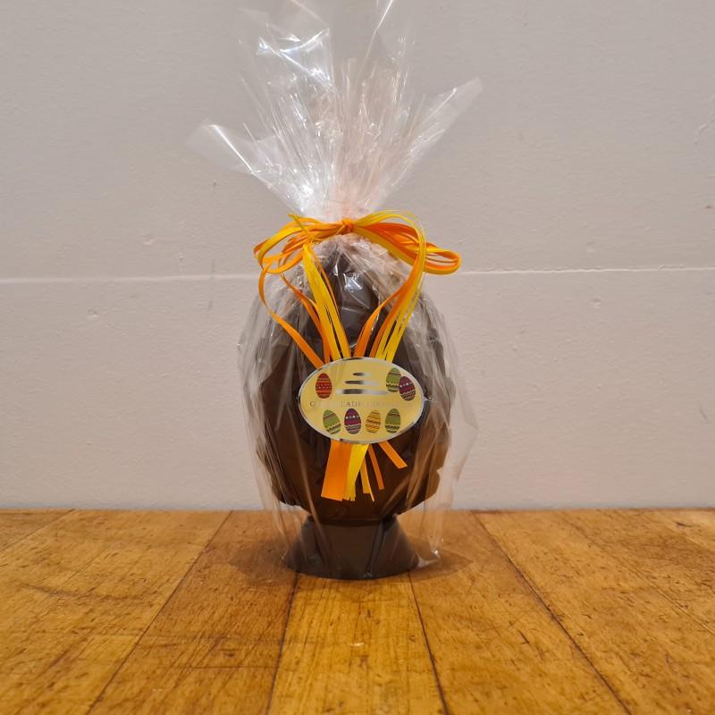 Hel påskeæg i mørk chokolade, ca. 14,5 cm DENNE VARE SKAL AFHENTES I BUTIKKEN