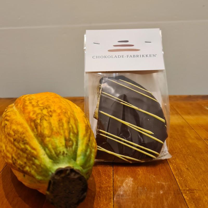 Passionsbrud overtrukket i mørk chokolade