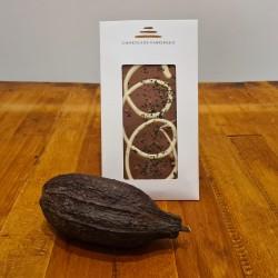 Lys chokolade med myntebrud