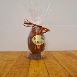Hel påskeæg i lys chokolade, ca. 12 cm. DENNE VARE SKAL AFHENTES I BUTIKKEN