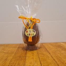 Hel påskeæg i lys chokolade, ca. 14,5 cm DENNE VARE SKAL AFHENTES I BUTIKKEN