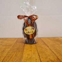 Hel påskeæg i mørk chokolade, ca. 12 cm. DENNE VARE SKAL AFHENTES I BUTIKKEN