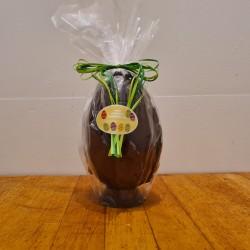 Hel påskeæg i mørk chokolade, ca. 17,5 cm DENNE VARE SKAL AFHENTES I BUTIKKEN